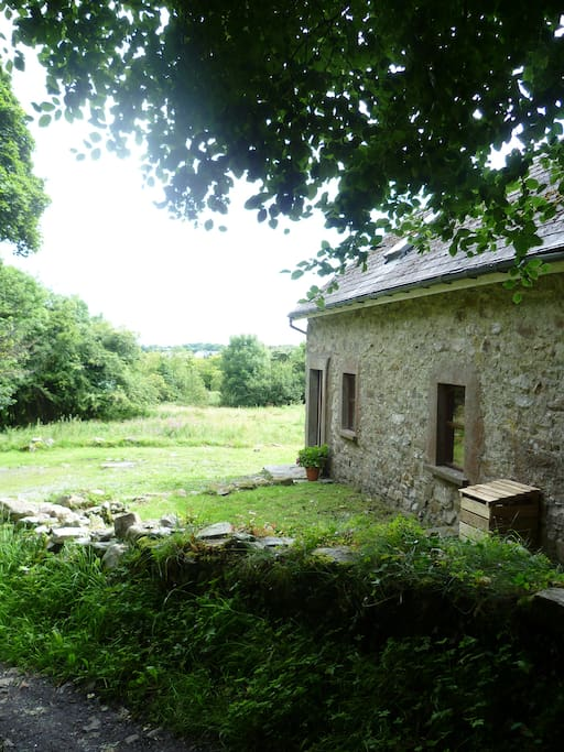 The cottage looks out onto a meadow, it is located opposite our other cottage at the end of a tree covered lane.