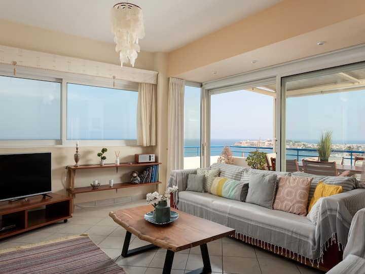 Summer Bliss - Rethymno Panorama Seaview Apartment