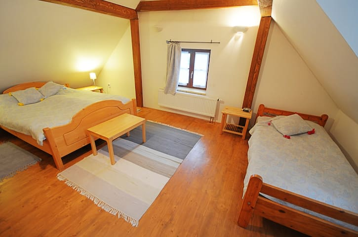 Triple rooms at stylish cottage - Bušovice - Dům