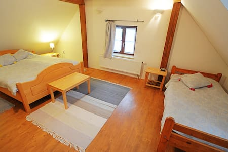 Triple rooms at stylish cottage - Bušovice - House