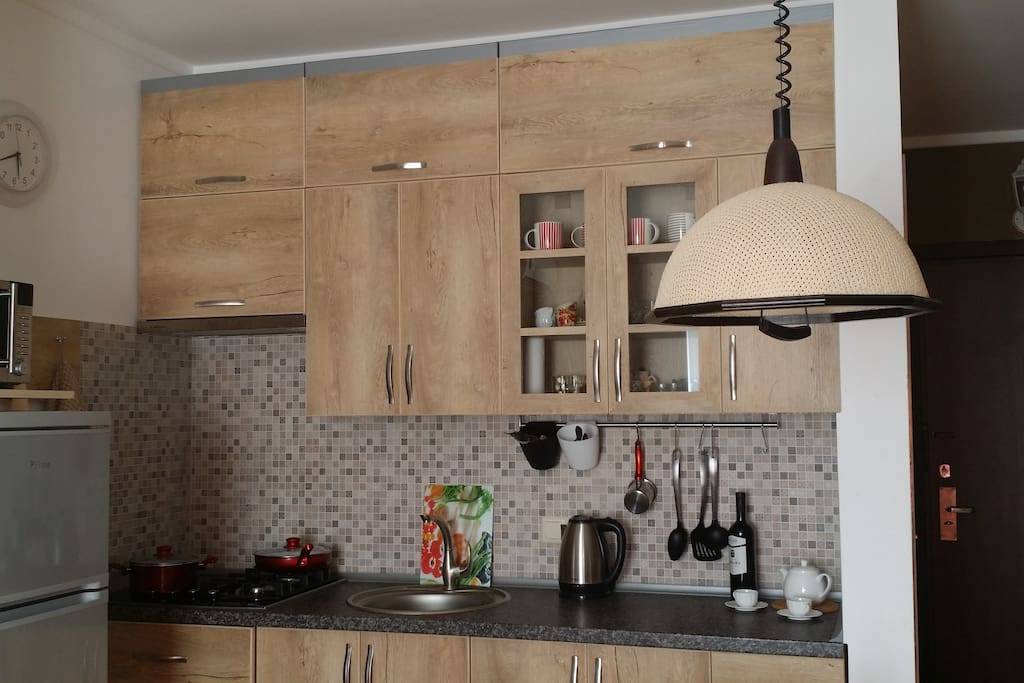 Kitchen fully equipped for your dining needs