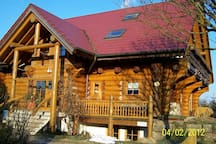 Kanadisches Holzblockhaus