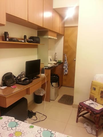 Spacious and many storage. Kitchenette.