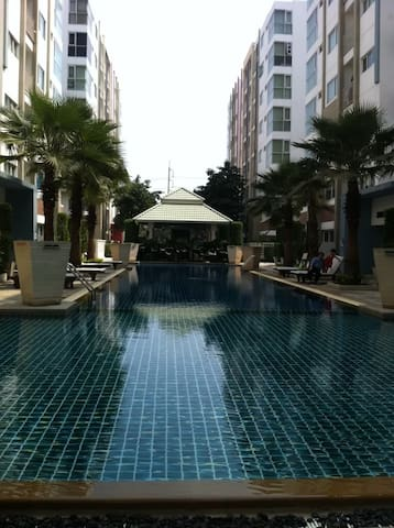 Quiet studio in the park hi-speed wifi Bangkok bts - Banguecoque - Condomínio