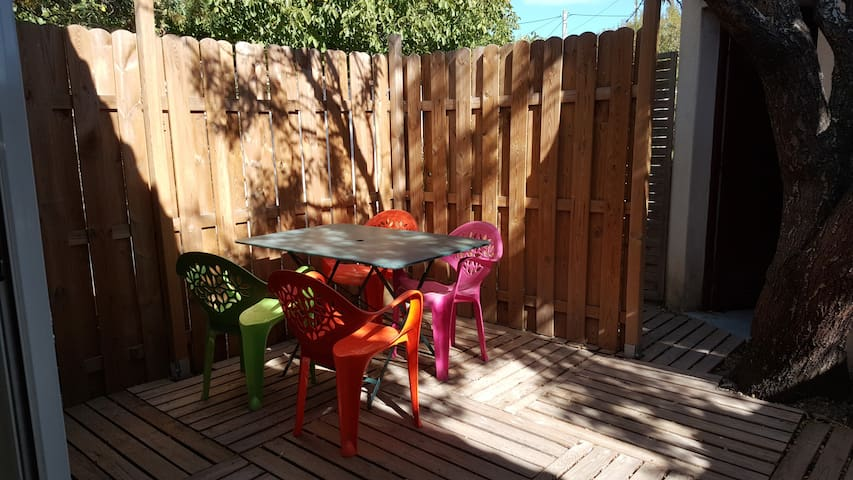 Terrasse privative coin repas