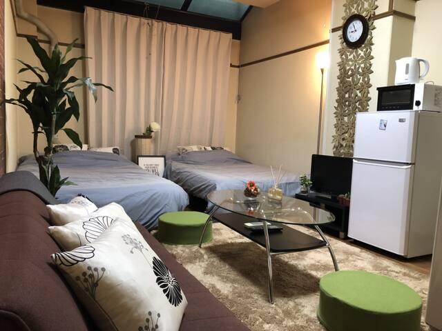 【MAX8people!】Honmachi St1min,Moderm style BIG room