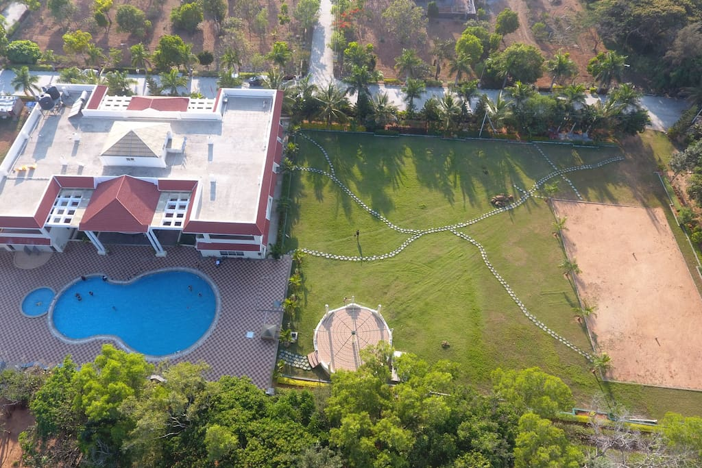 Drone view of the resort