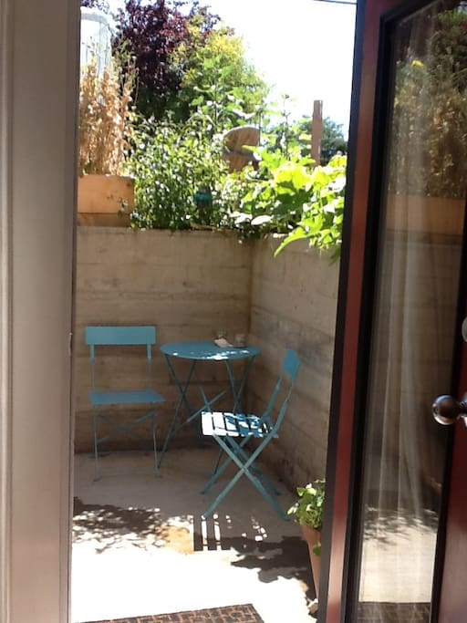 Private entrance and own sunny patio.
