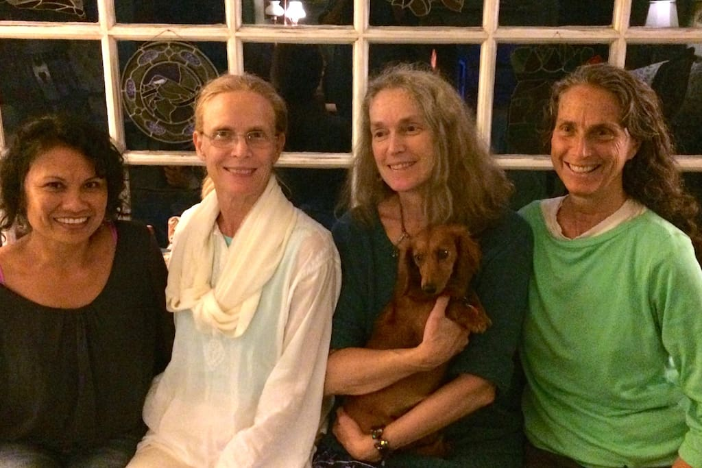 Meet Wayan, Jenny, Amy and Becky  and Pumpkin the dachshund. Family members that may be your host at the Inn!