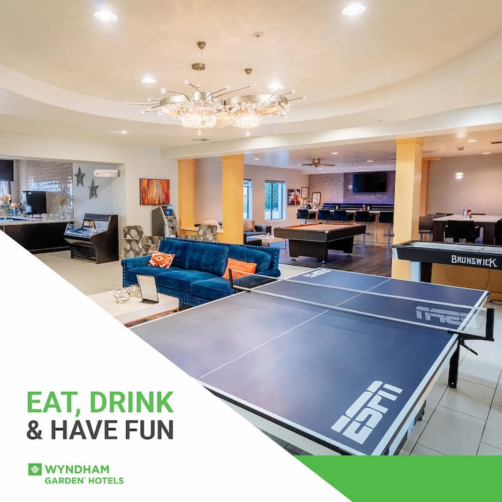 Great location,fun hotel with games, pool,spa,etc