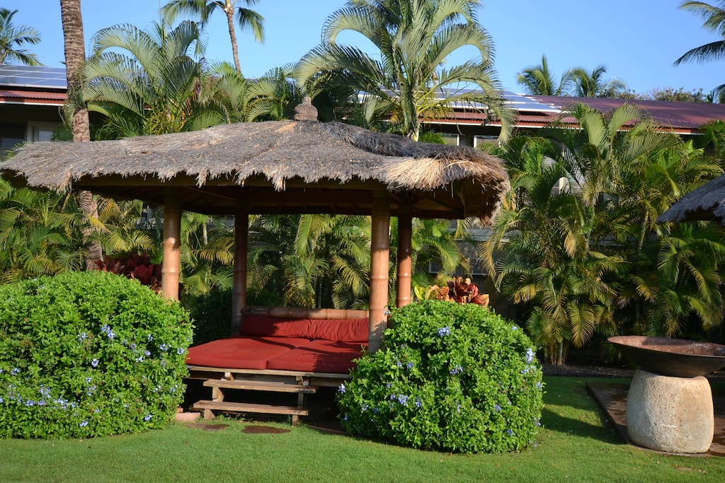 One of the cabanas at the property