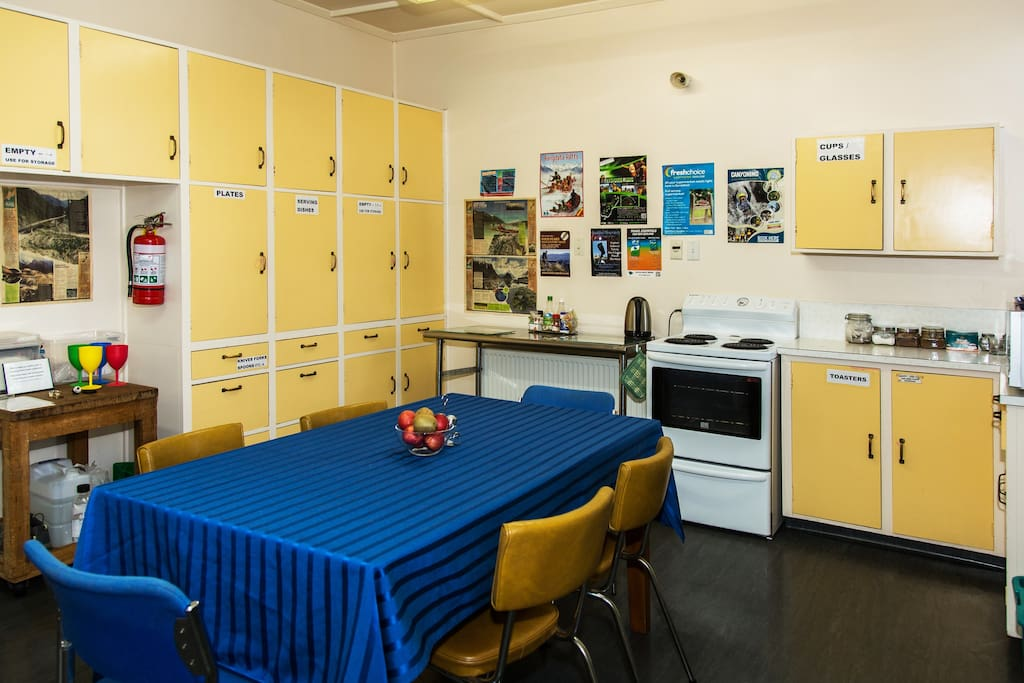 Large fully equiped kitchen with free fruit, tea, coffee, milo and herbal teas and milk for your drinks.