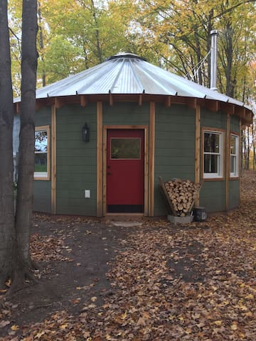 The yurt in fall