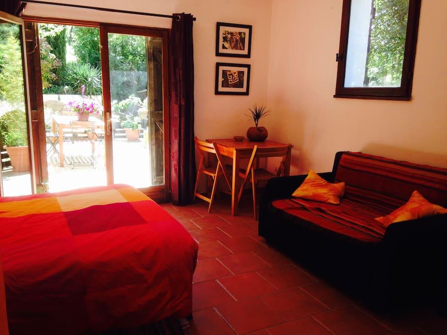 Studio Soleil avec terrasse privative