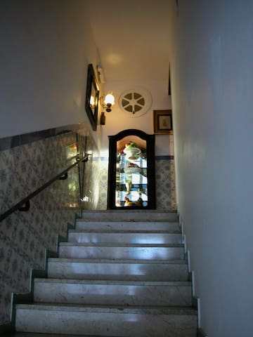 The entrance of the house...