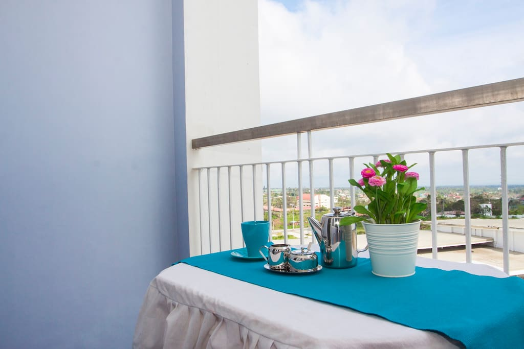 Enjoy the sun, read your favorite book or have your breakfast on the balcony