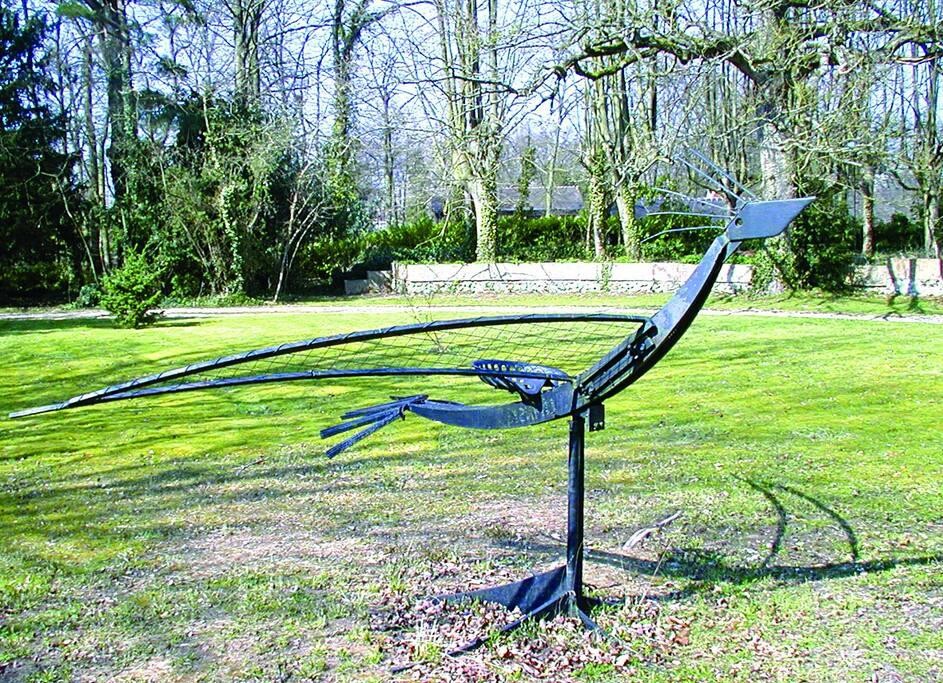 Des sculptures dans le parc