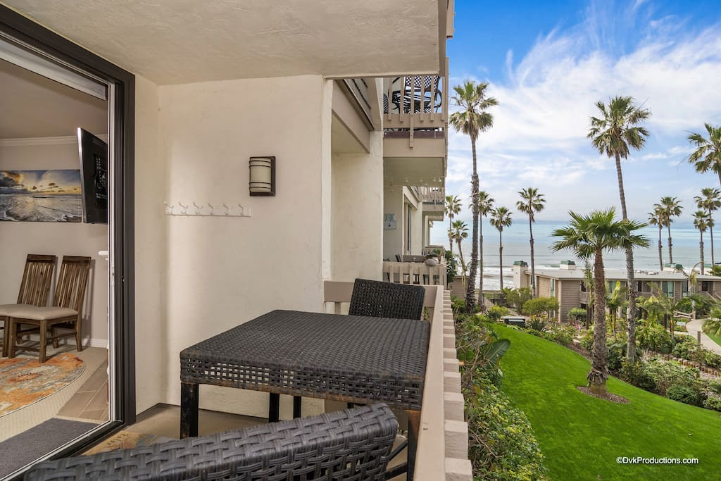 Beautiful ocean and garden views from your private balcony!