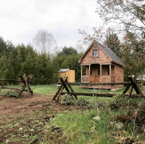 The Birchview Tiny Off-Grid Cabin