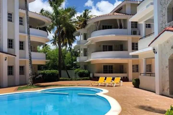 Colonial apartment in punta cana next to the beach