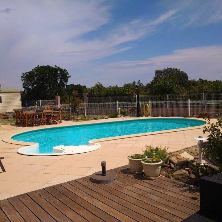 Villa Familiale  avec piscine privée plage à 5mn