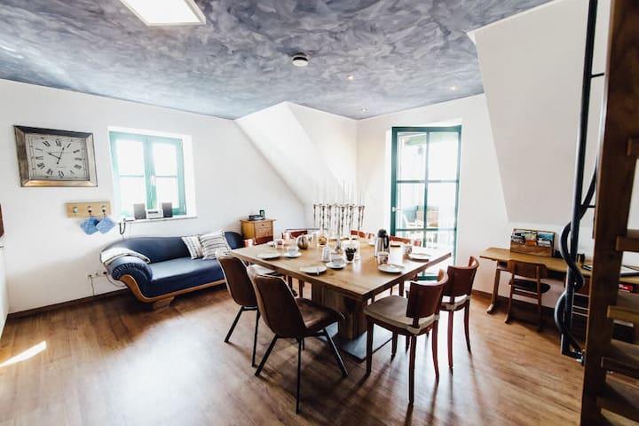 """Müllner-Hof (Schwarzach bei Nabburg), Ferienwohnung """"Sternenhimmel"""" für bis zu 9 Personen mit kostenfreiem WLAN"""