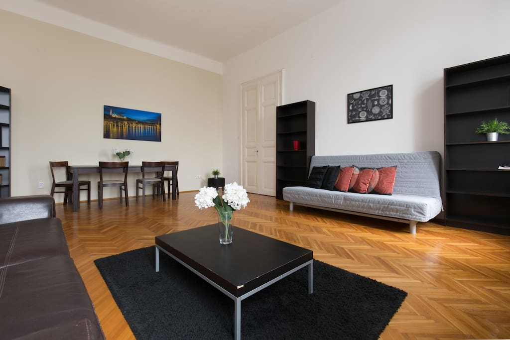Bright, friendly living area