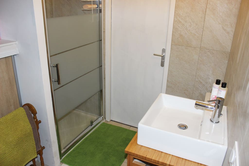 Modern, private shower room for guests use only