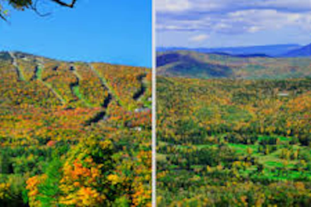 Autumn View of Okemo Mountain