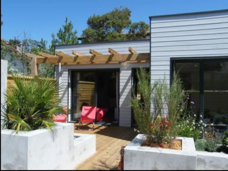 Maison neuve bois 400m de la plage casas en alquiler en for Maison neuve en bois