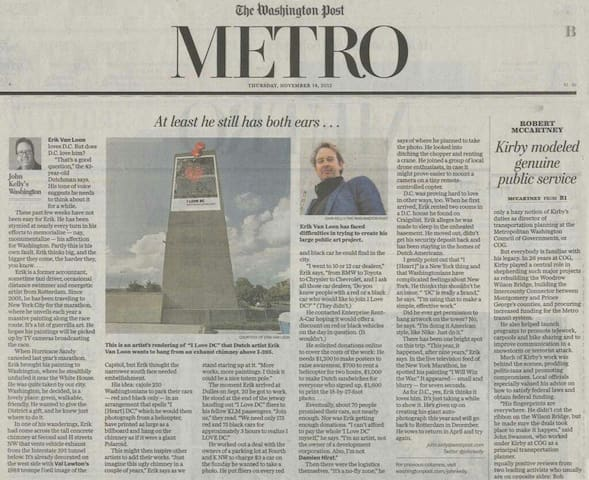 Oh ja I should not forget to mention this big interview about I Love DC in the Washington Post 2013 because I am artist.