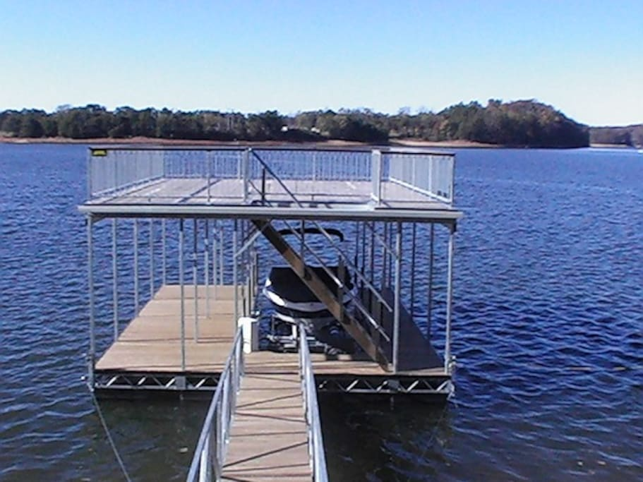 Dock on Deep / Big Water for soaking up the rays or gatherings with friends and family.