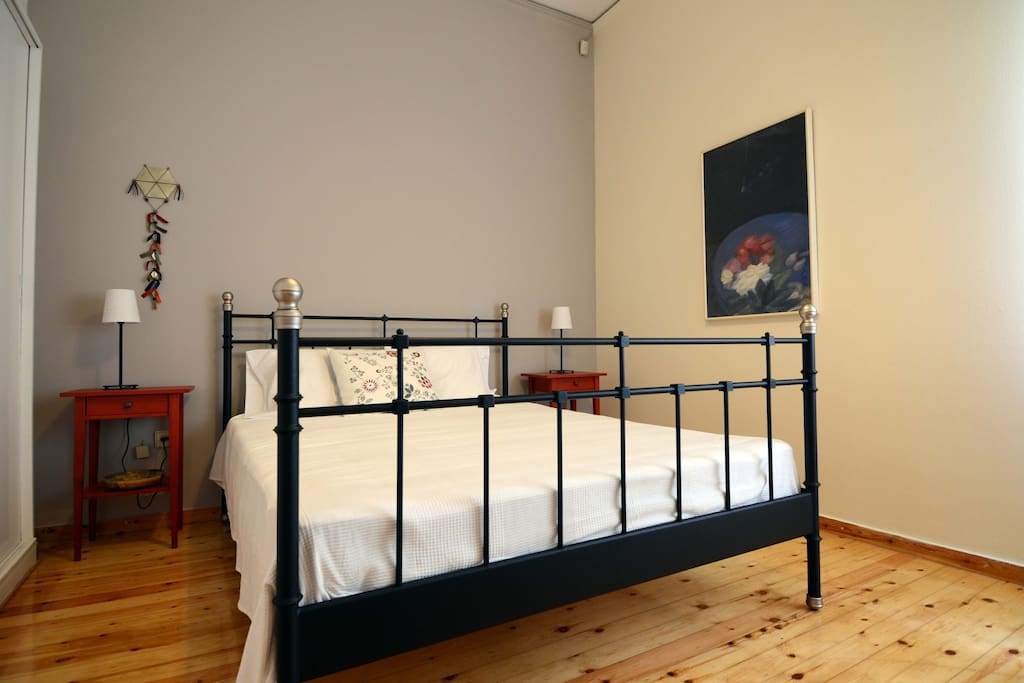 Comfortable twin-size bed