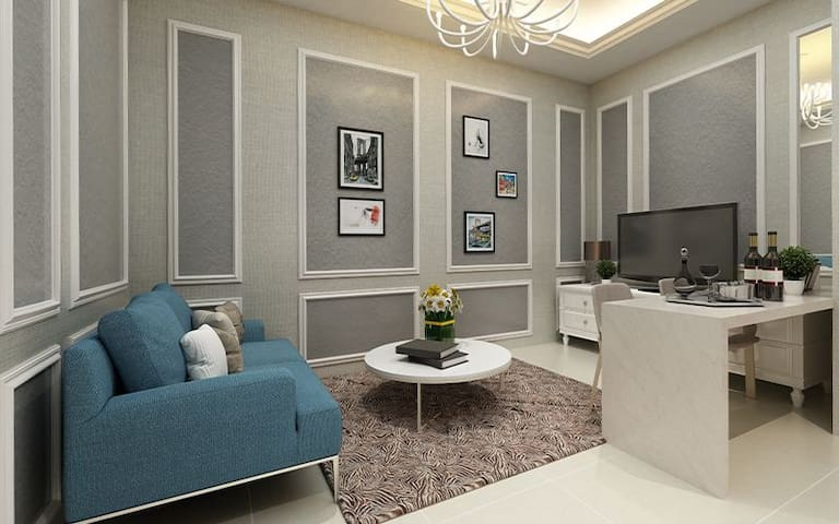 Family Hall Area with Sofa Bed