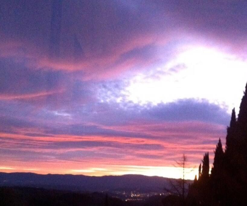 Fattoria Mandri,a beautiful sunset in August