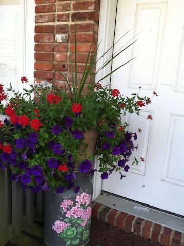 Porch flowers lovely addition in the summer