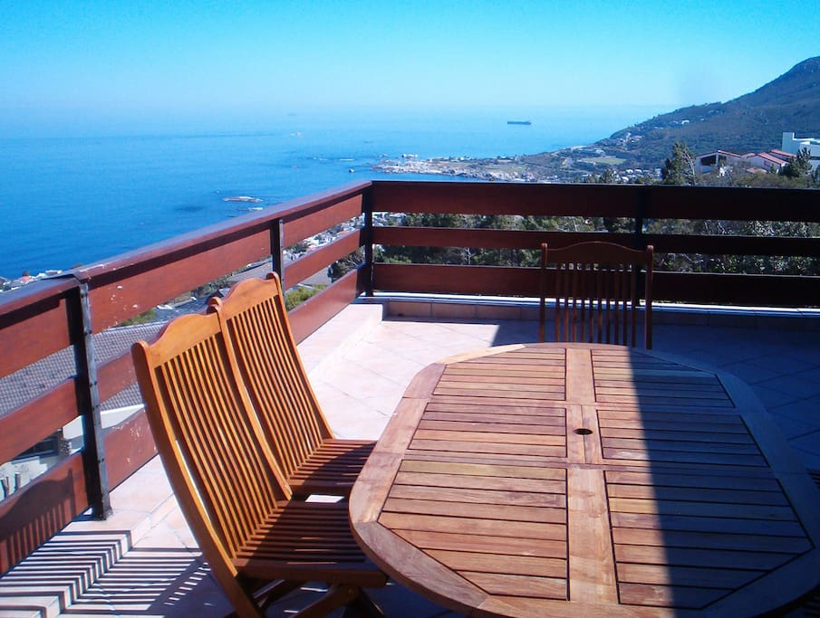 Sea facing terrace with outdoor furniture