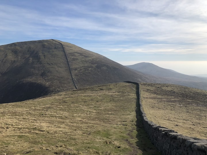 The Mourne wall leading to Slieve Donard