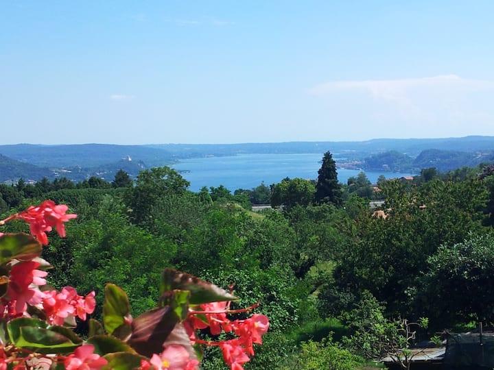 Appartamento classico con vista al Lago Maggiore