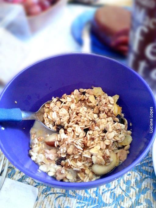 Cereals with milk plant - Vegan breakfast in Rio de Janeiro