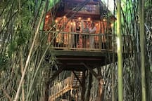 Guests attending Atlanta's Mart request their photo made on the treehouse wrap around deck. We love our business travelers. They say they leave rested and recharged.