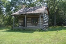 Full view of cabin from the drive