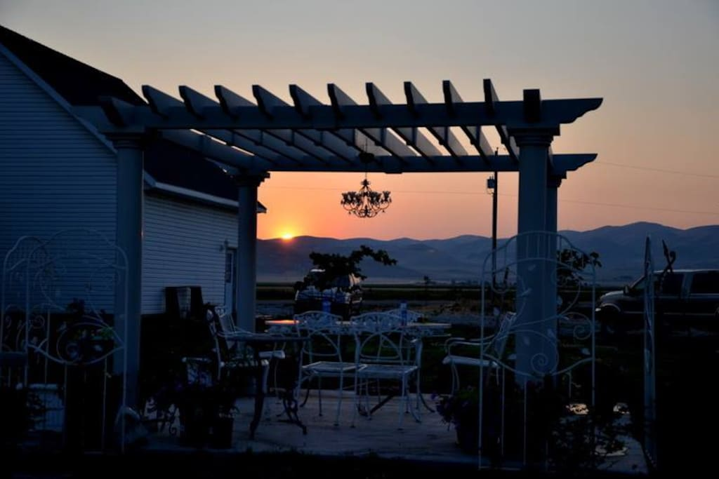 Sunset from the Pergola