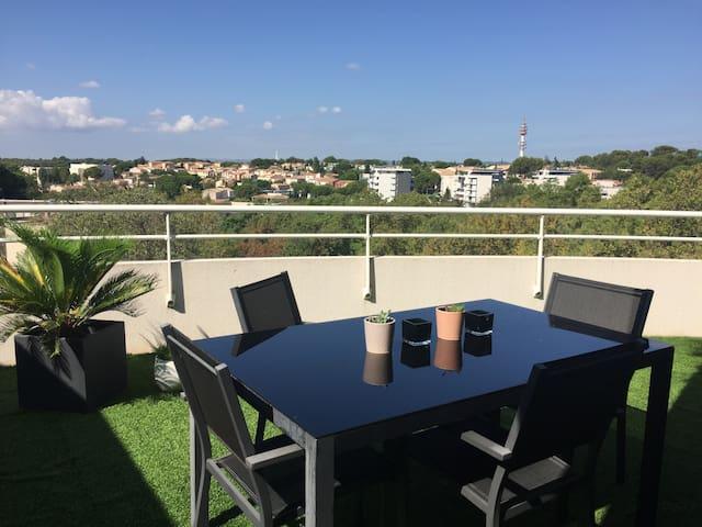 Appartement Grande Terrasse & Parking