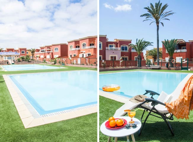 Paradise Corralejo: pool in quiet residential