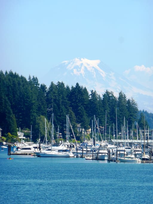 Home is 1 mile from spectacular Gig Harbor (the town and the harbor).