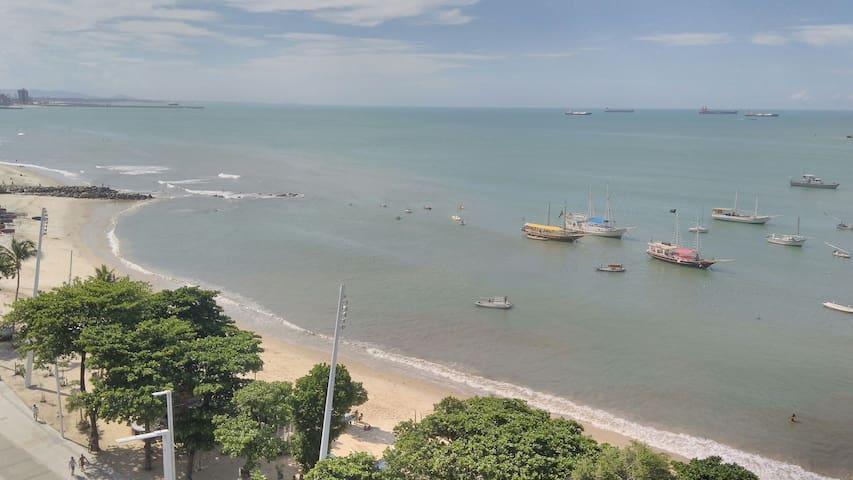 Seu Flat LITERALMENTE em Frente ao Mar