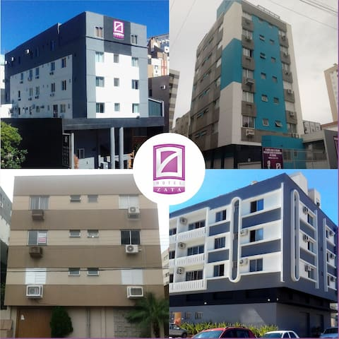 Óctuplo  Flat - Hotel Zata/Criciúma-SC