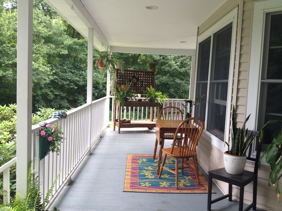 Enjoy your morning coffee, or an afternoon drink on the porch!
