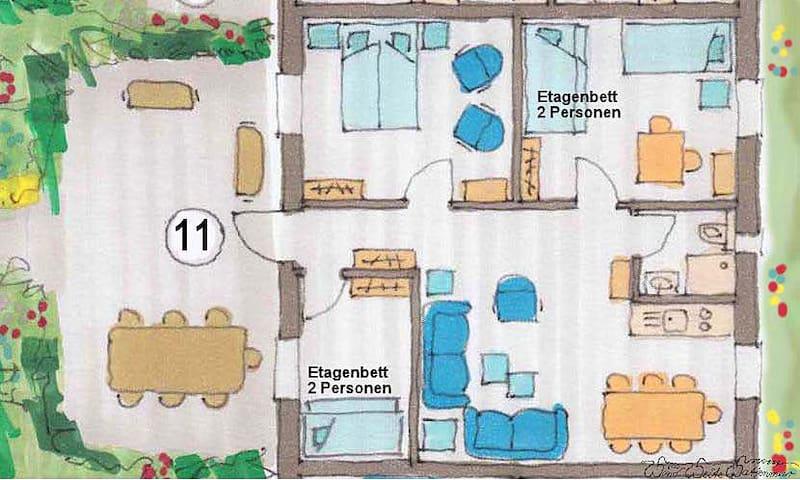 Ferien in Tossens Nr. 11 für 6 Pers - Butjadingen - Lägenhet